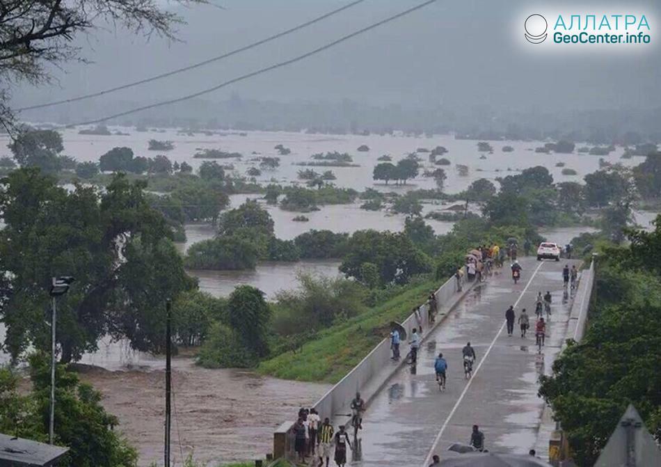 Наводнение в Малави, Восточная Африка, апрель 2018 г.