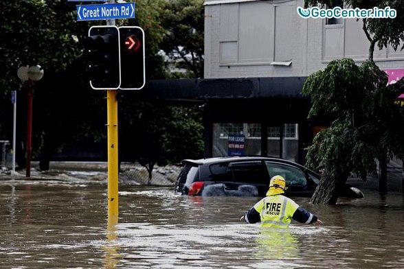 Шторм в Окленде, Новая Зеландия