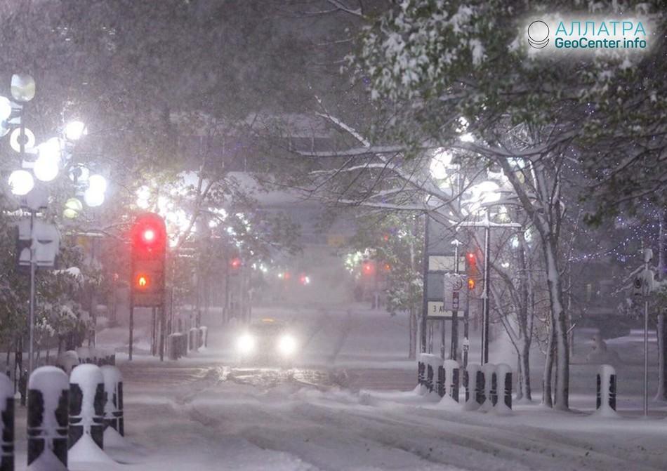 В Канаду пришла зима, октябрь 2018 г.