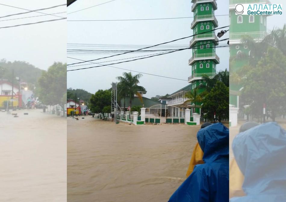 Наводнение на индонезийском острове Банка, март 2018 г.