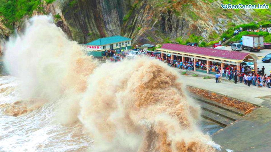 Мощный тайфун «Нида» Китай
