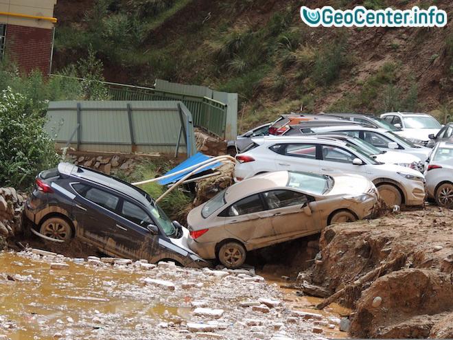 """Последствия тайфуна """"Лайонрок """" в Китае, сентябрь 2016 года"""