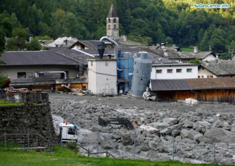 Оползень в Швейцарии, август 2017 года