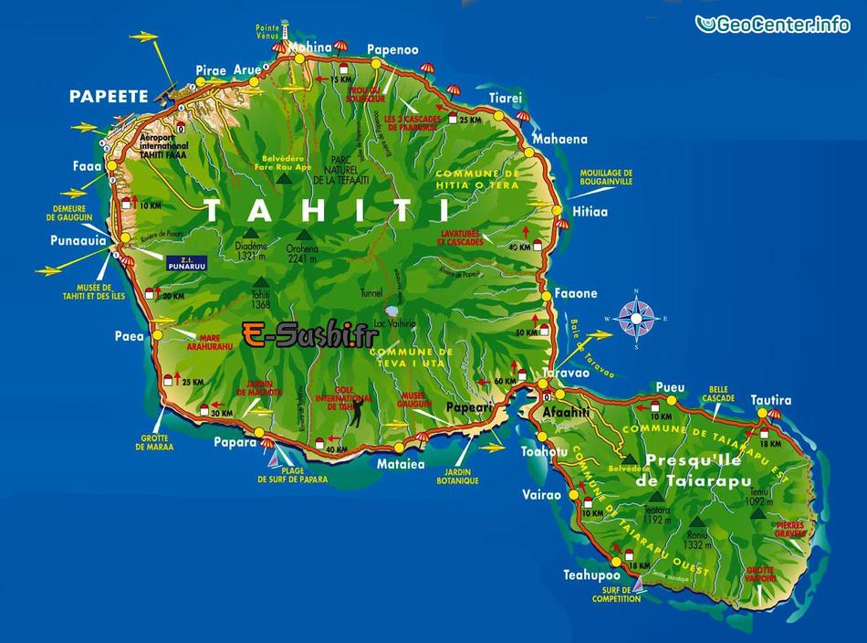 Остров Таити затопило в результате сильных дождей