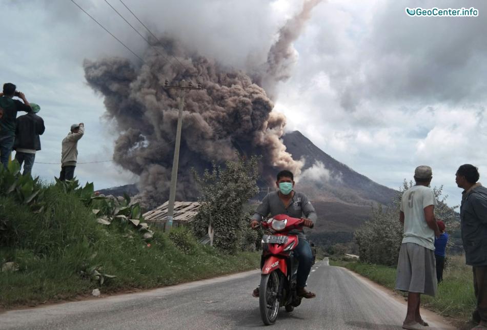 Новости о вулкане Синабунг, Индонезия