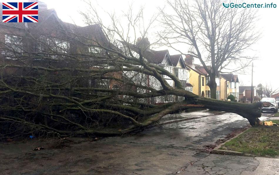 """Атлантический циклон """"Дорис"""" в Великобритании"""
