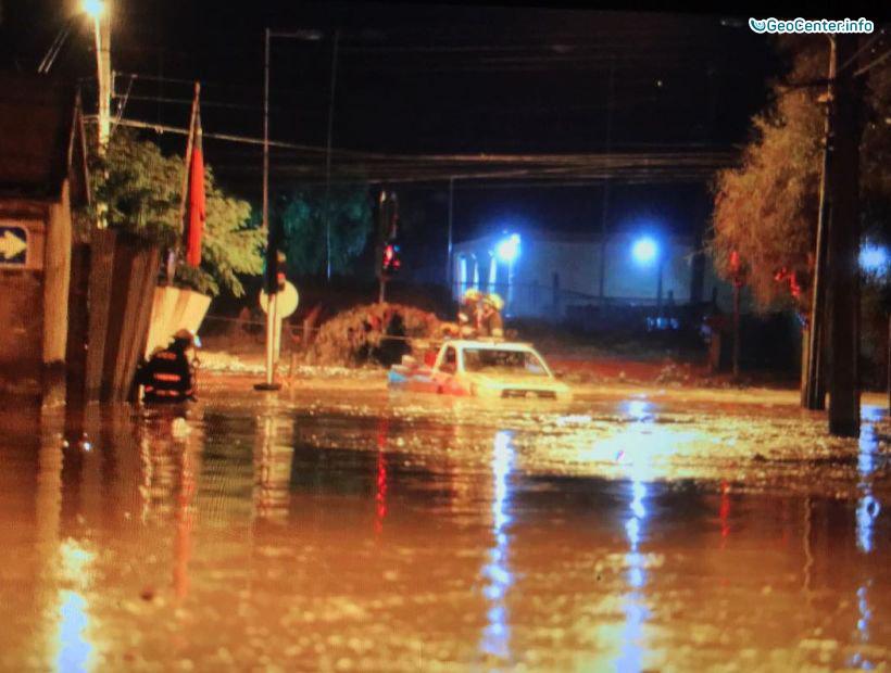 Аномальные ливни и наводнение в Центральной части Чили