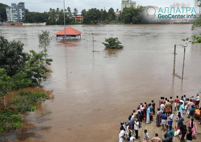 Масштабное наводнение в Индии, август 2018