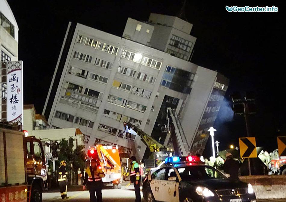 Серия мощных землетрясений на Тайване, 6 февраля 2018 года
