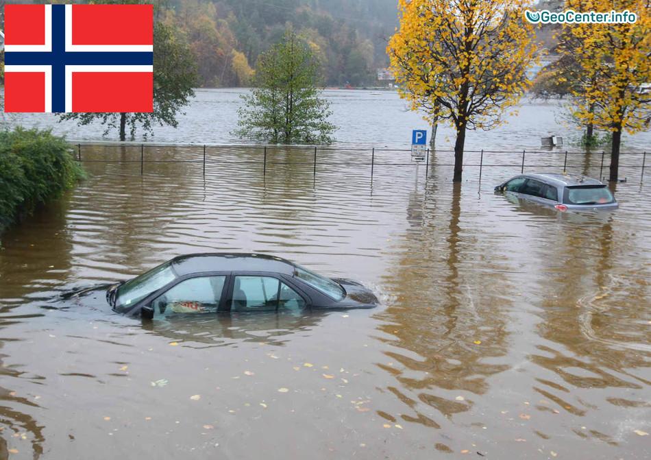 Наводнение на юге Норвегии, 21-22 октября 2017 года
