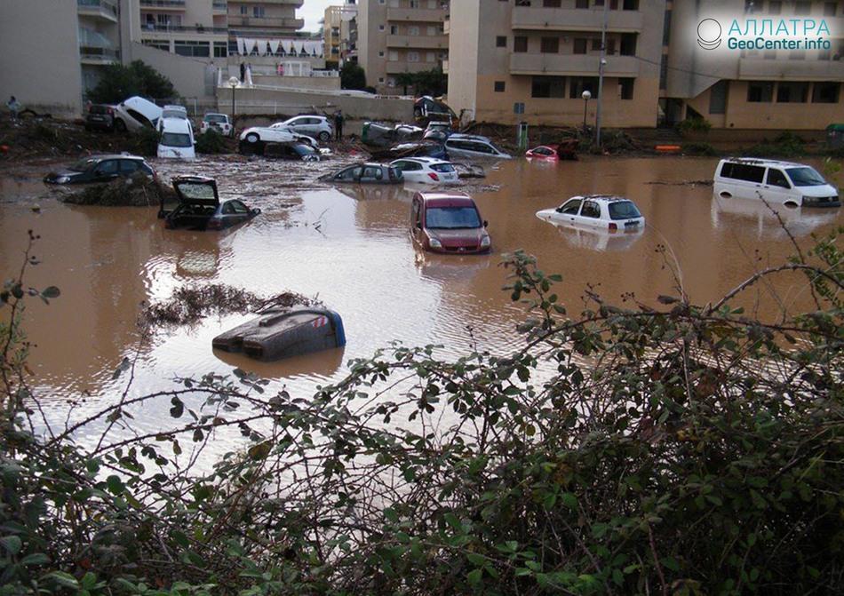 Крупное наводнение в Испании, октябрь 2018 года