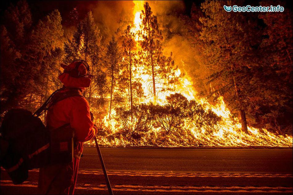 В Калифорнии свирепствуют лесные пожары, октябрь 2017.