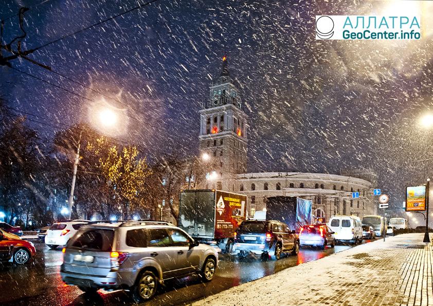 Снег в Черноземье, март 2018