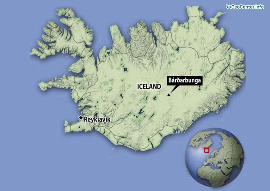 Новости о подледном вулкане Бардарбунга, Исландия