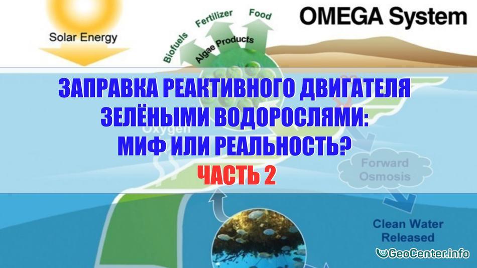 Заправка реактивного двигателя зелёными водорослями: миф или реальность? Часть 2