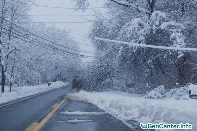 Сильные снегопады в китайской провинции Хубэй