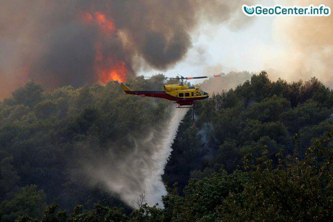 Лесной пожар  во Франции, август 2017 года