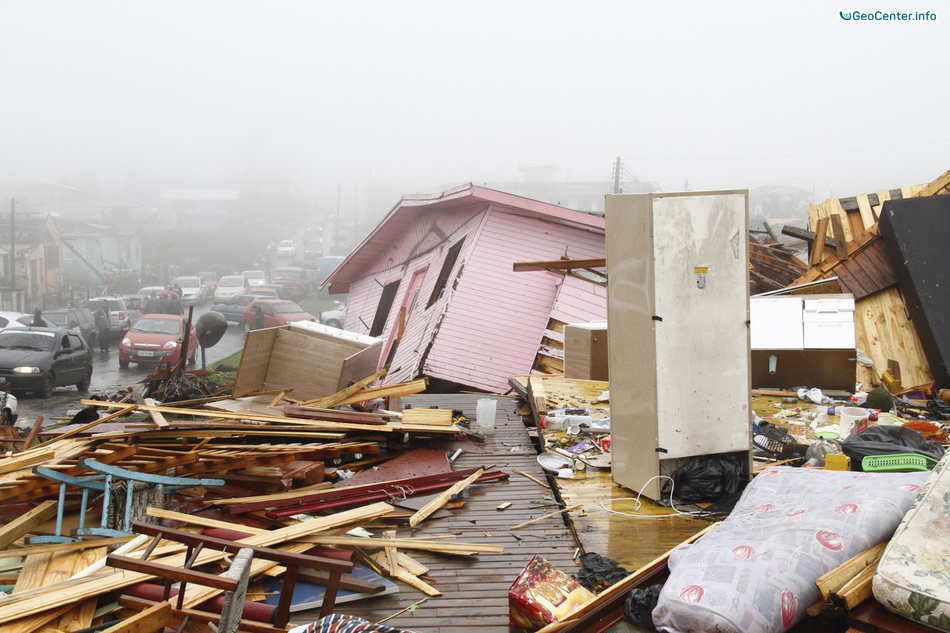 Серия торнадо на юге Бразилии