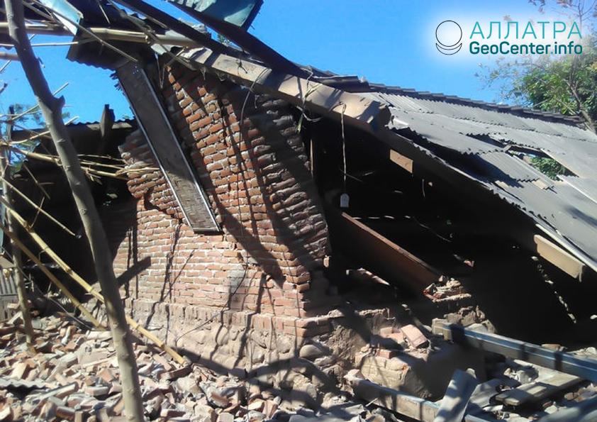 Последствия землетрясения на острове Ломбок, август 2018