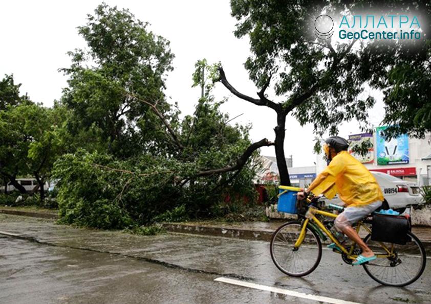 Тайфун Мангхут пришёл в Китай, сентябрь 2018