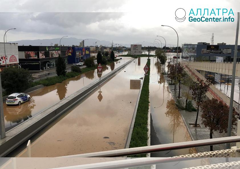 Серия наводнений в Испании, ноябрь 2018