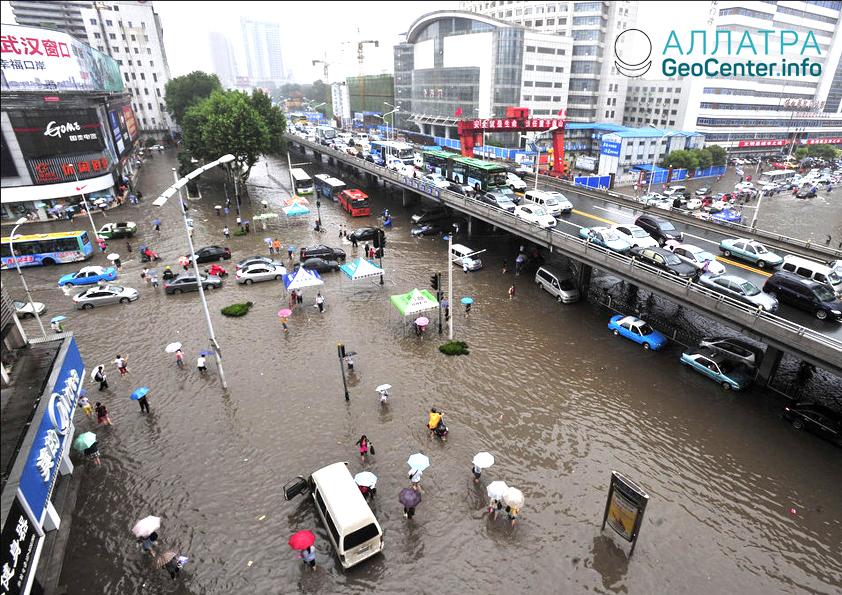 Наводнение в Китае, август 2018 г.