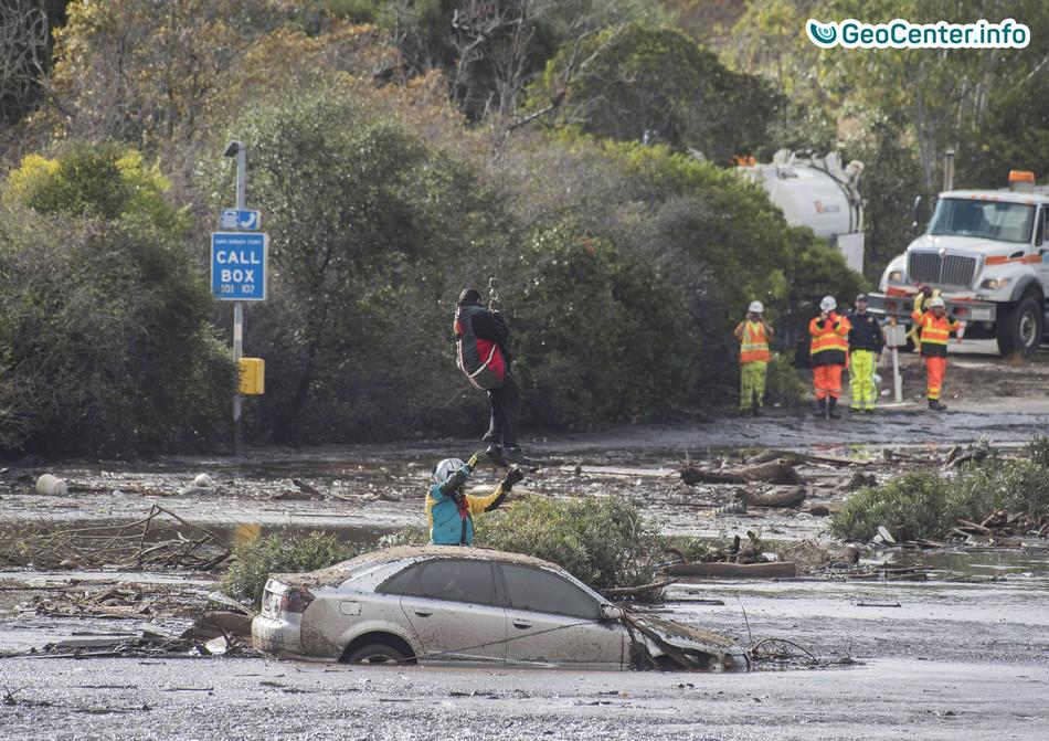 Проливные дожди, оползни и наводнения в Южной Калифорнии, январь 2018 года
