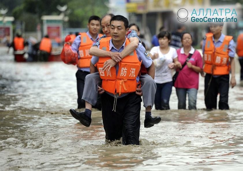 Наводнения в Китае, сентябрь 2018