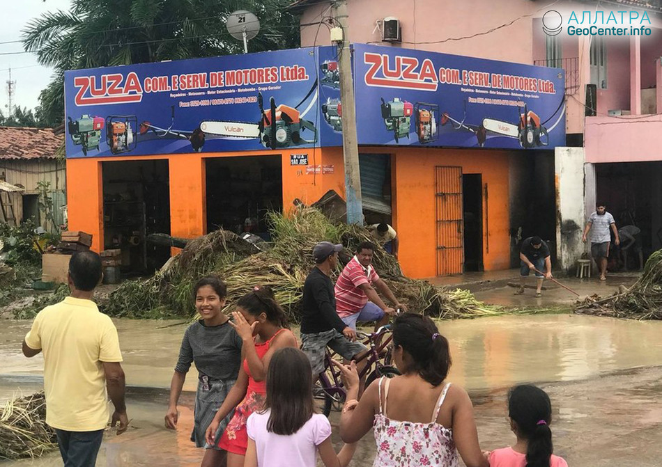 Паводок на севере Бразилии, апрель 2018 г.