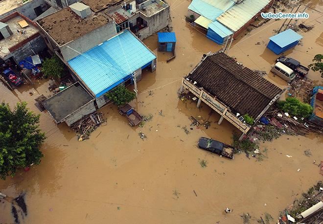 На Китай обрушился тайфун «Дяньму»
