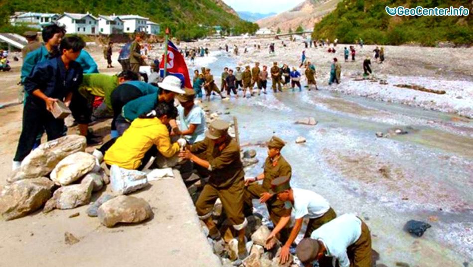 Наводнение в Северной Корее 11 сентября 2016