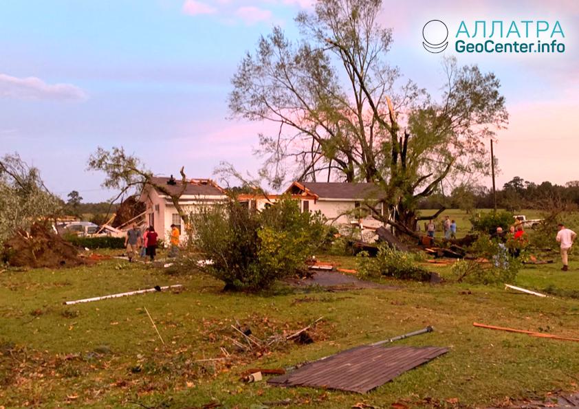 Торнадо в штате Луизиана (США), ноябрь 2018