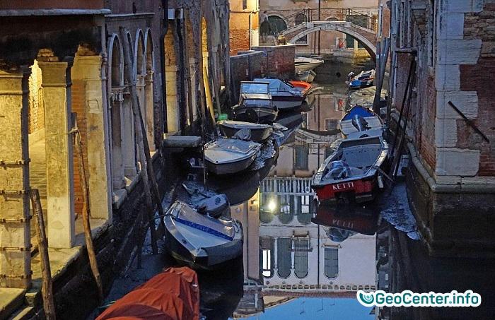 Каналы Венеции остались без воды Февраль 2018