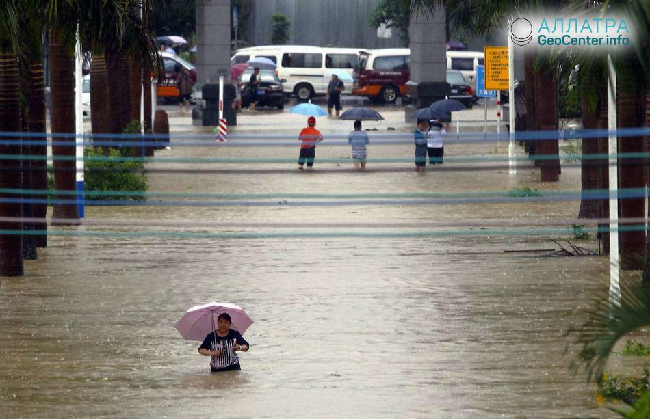 Наводнение в Китае, май 2018 г.