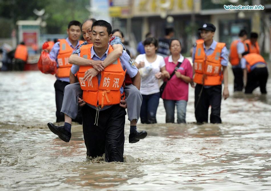 Климатические происшествия в Китае, 8-13 июля 2017 года