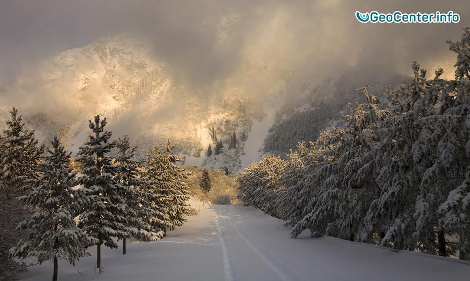 Снежные лабиринты в Казахстане