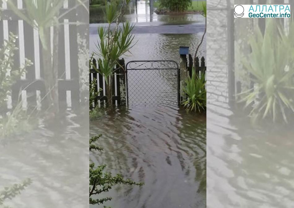 В штате Квинсленд дожди вызвали наводнение, февраль 2018 г.