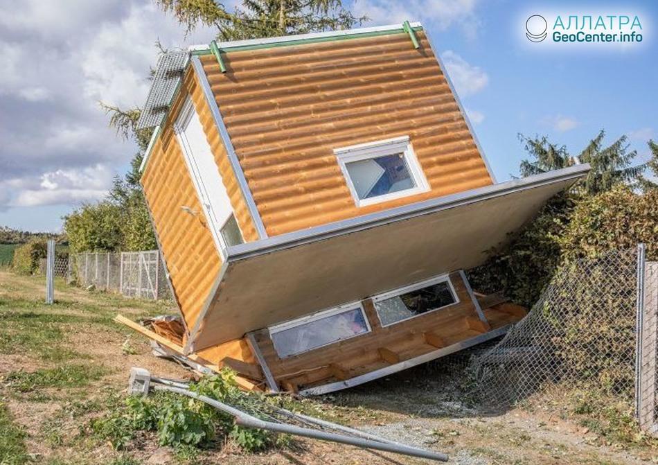 Последствия вспышки торнадо в Германии, сентябрь 2018 г.