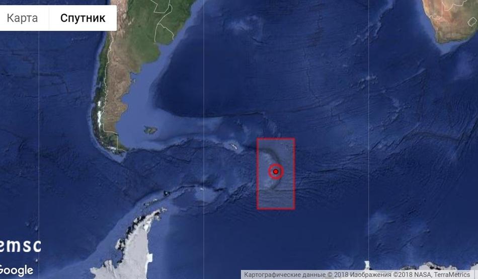 Мощное землетрясение у Южных Сандвичевых островов, август 2018 г.