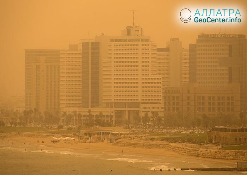 Песчаные бури на Ближнем Востоке, июнь 2018 г.