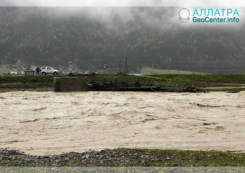 Крупное наводнение в Австрии, октябрь 2018 г.