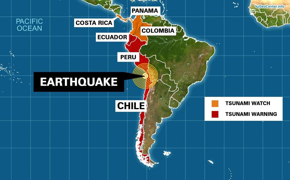 Землетрясение в Тарапаке, Чили