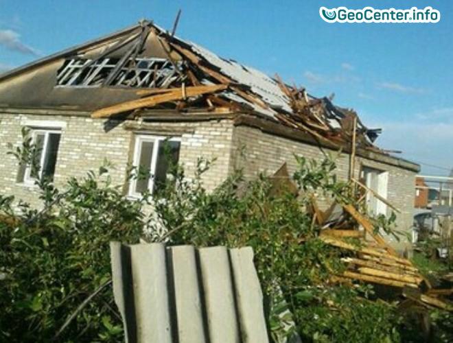 Ураган и смерч в Костанае, Казахстан