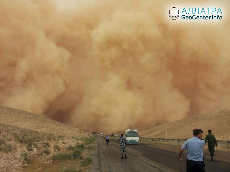 Песчаная буря в Индии, май 2018