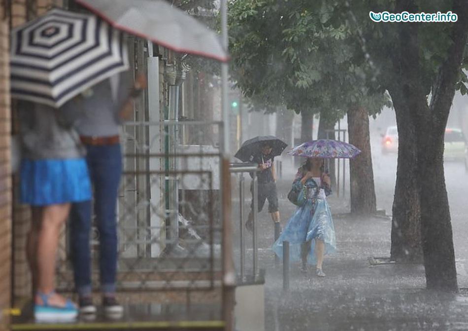 Дождливая погода обрушилась на Анапу и Геленджик, 23 сентября 2017 года