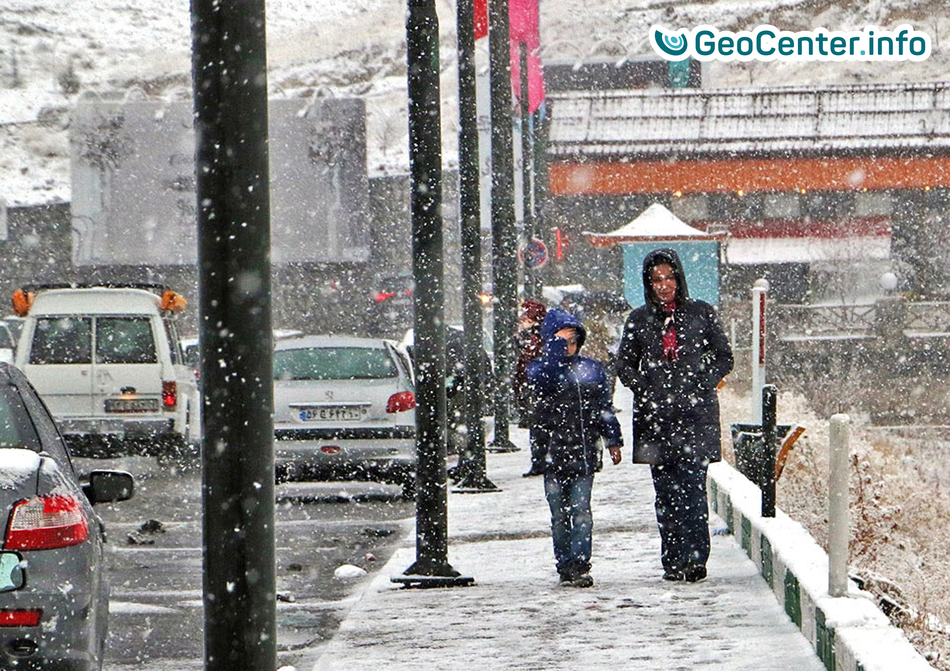 Снег на территории Ирана, январь 2018 года