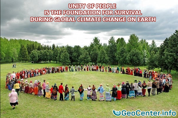 Unity of people is the foundation for survival during global climate change on Earth