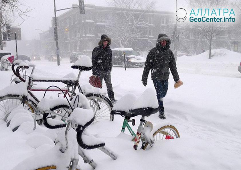 Снегопады в Канаде, ноябрь 2018
