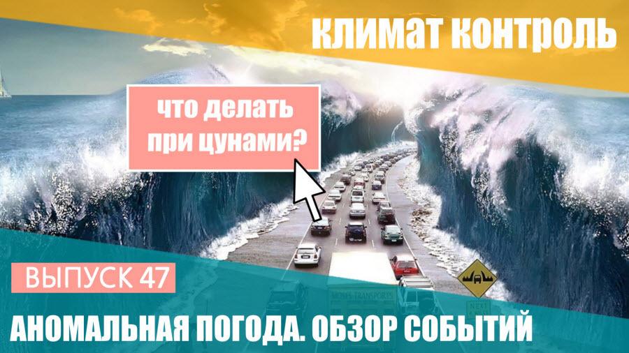 Аномальная погода. 21-27 января 2017. Что делать при цунами? Выпуск 47