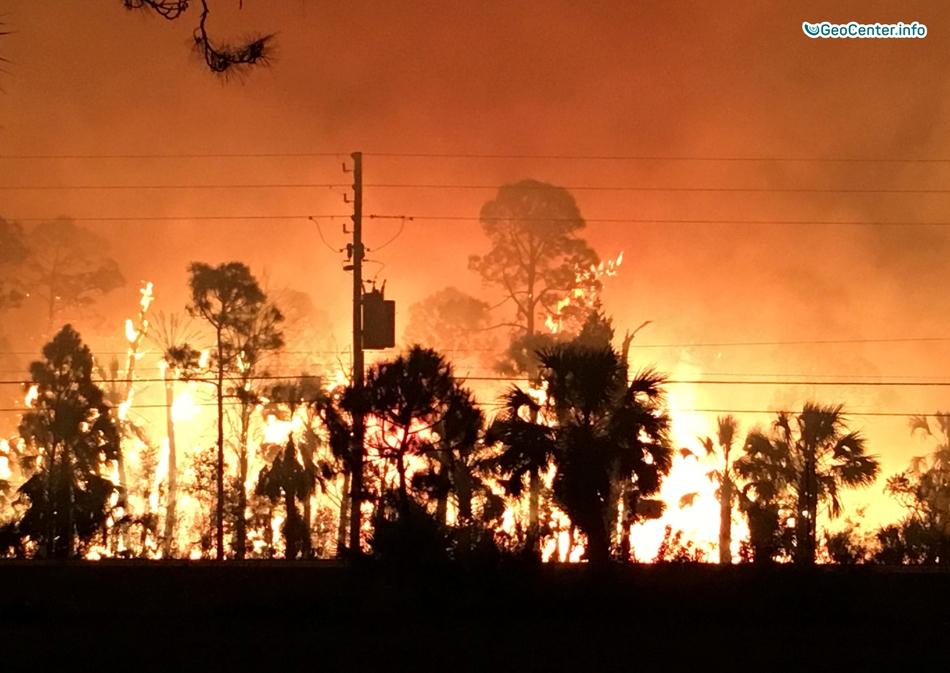 Во Флориде полыхают пожары из-за  продолжительной засухи